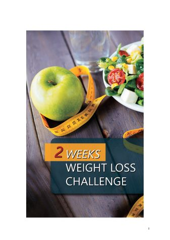 2 weeks weight loss challenge