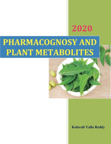 'Pharmacognosy and Plant Metabolites'