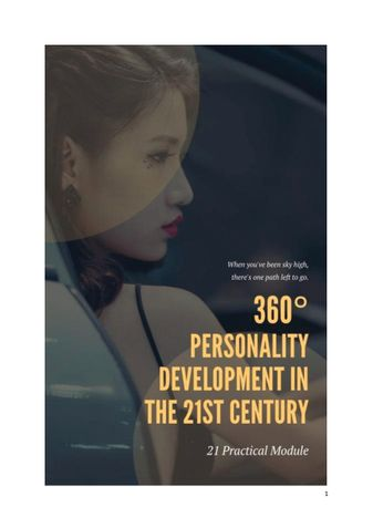 360° Personality Development In The 21st Century.
