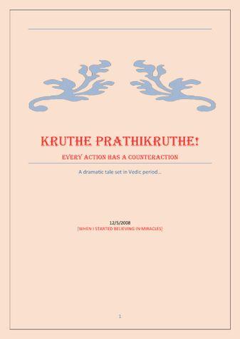 Kruthe Prathikruthe