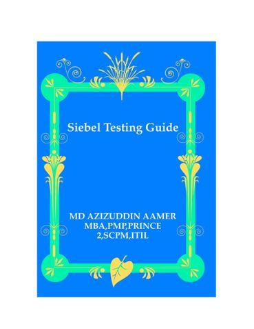 Siebel Testing Guide