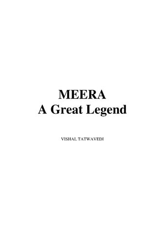 MEERA A Great Legend