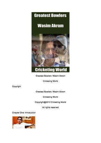 Greatest Bowlers: Wasim Akram