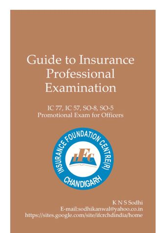 Guide To Insurance Professional Examination (Fire and Engg.)
