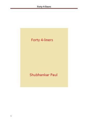 Forty 4-liners