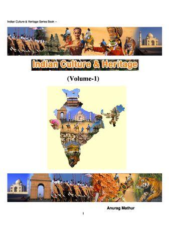 Indian Culture & Heritage Volume -1