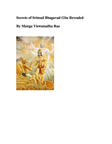 Secrets of Srimad Bhagavad Gita Revealed