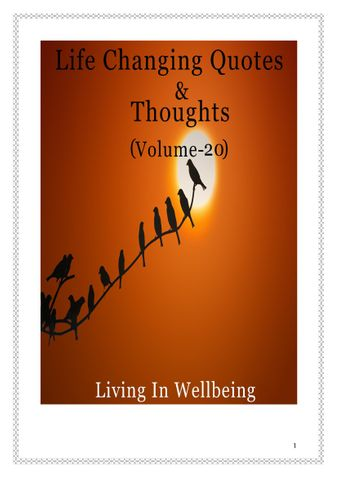 Life Changing Quotes & Thoughts (Volume 20)