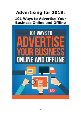 101 Ways to Advertise Your Business Online and Offline.pdf