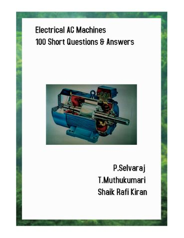 Electrical AC Machines 100 Short Answer Questions