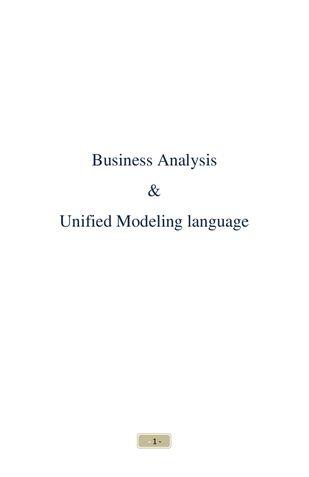 Business Analysis & Unified Modeling Language
