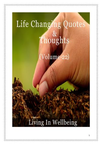 Life Changing Quotes & Thoughts (Volume 22)