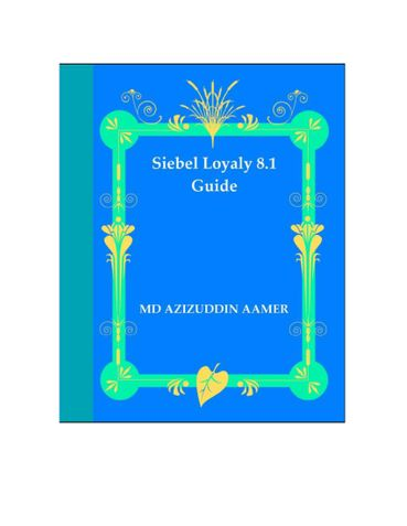Siebel Loyalty 8.1 Guide