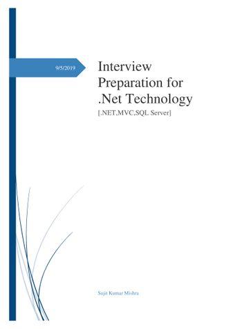 Dot net & MVC interview questions
