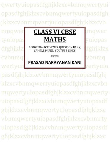 VI CLASS CBSE MATHS