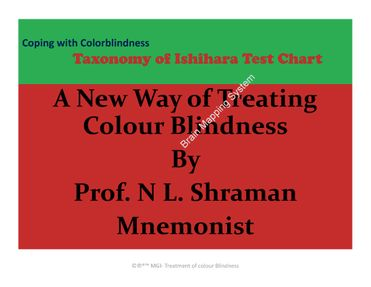 Treatment of Colour Blindness - Taxonomy of Ishihara test Chart