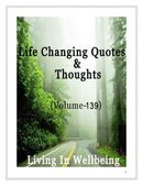Life Changing Quotes & Thoughts (Volume 139)
