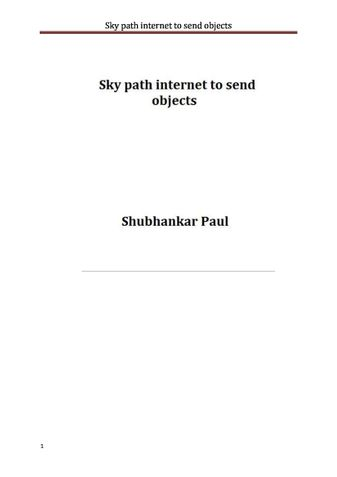 Sky path internet to send objects