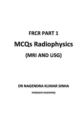 FRCR PART 1