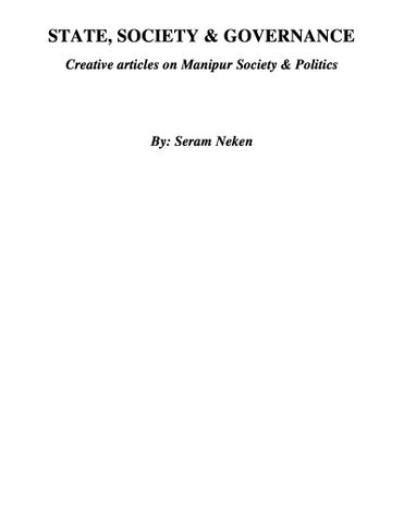 State, Society & Governance