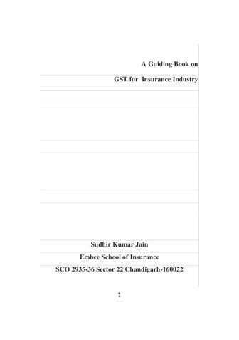 A Guide Book on GST for Insurance Industry
