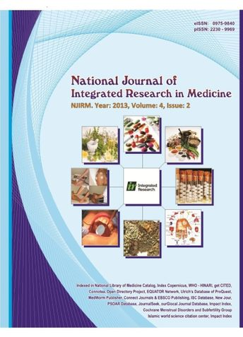 National Journal of Integrated Research in Medicine,
