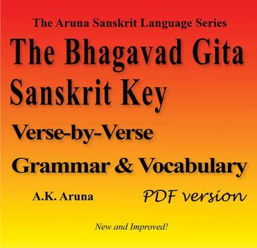 The Bhagavad Gita Sanskrit Key, PDF
