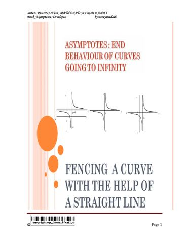 Asymptotes,End Behaviour Of Curves