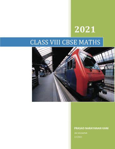 VIII CLASS CBSE MATHS