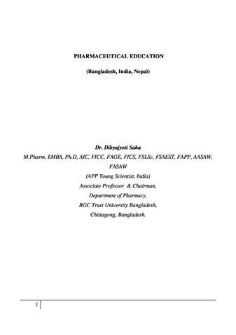 PHARMACEUTICAL EDUCATION