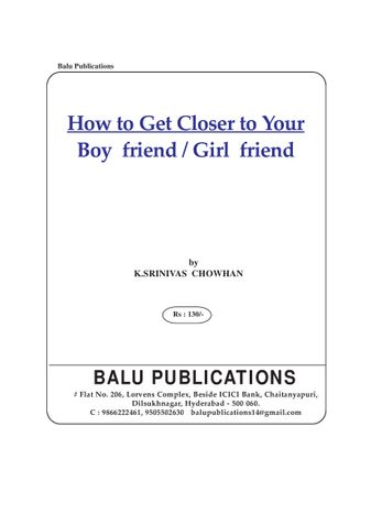 How to closer to your boy friend and Girl Friend