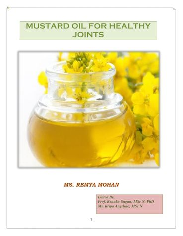 MUSTARD OIL FOR HEALTHY JOINTS