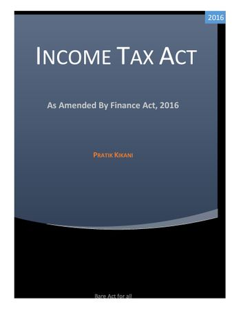 Income Tax Act, India
