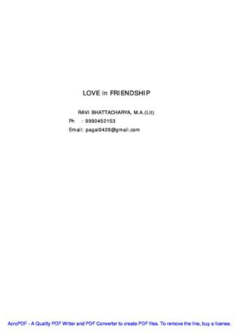 LOVE in FRIENDSHIP