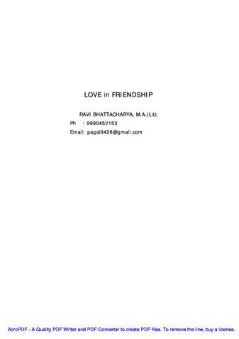 LOVE in FRIENDSHIP