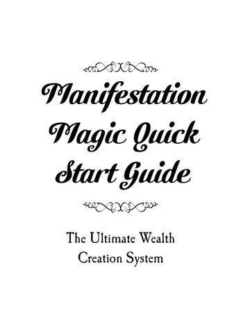 Manifestation Magic Review PDF eBook Book Free Download