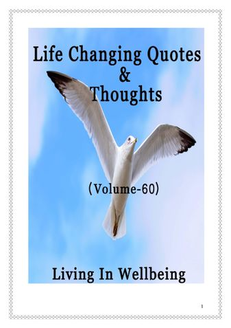 Life Changing Quotes & Thoughts (Volume 60)