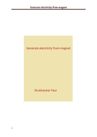 Generate electricity from magnet