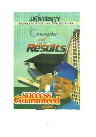 GRADUATE WITH EXCELLENT RESULTS