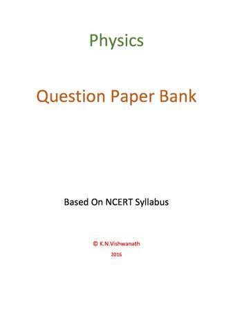 Physics (12th / PUC / NCERT)