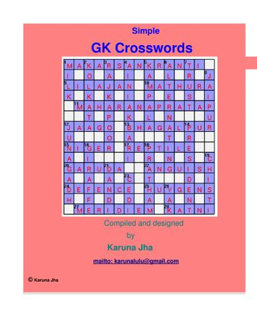 Simple GK Crosswords