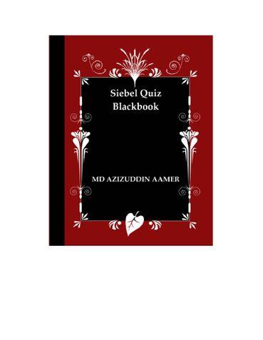 Siebel CRM Quiz Blackbook