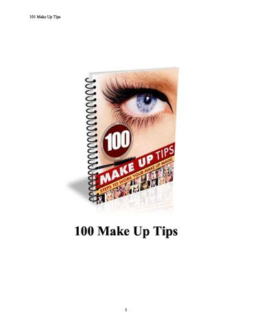 100 Make up tips
