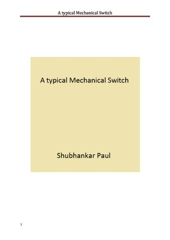 A typical Mechanical Switch