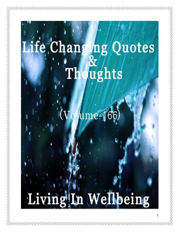 Life Changing Quotes & Thoughts (Volume 166)