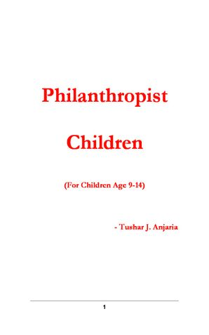 Philanthropist Children