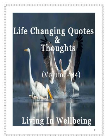 Life Changing Quotes & Thoughts (Volume 144)