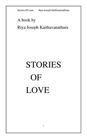 STORIES OF LOVE