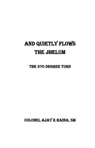 And Quietly Flows The Jhelum