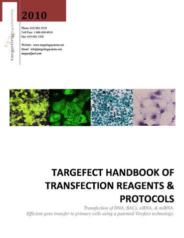 Targefect Handbook of Transfection Reagents & Protocols